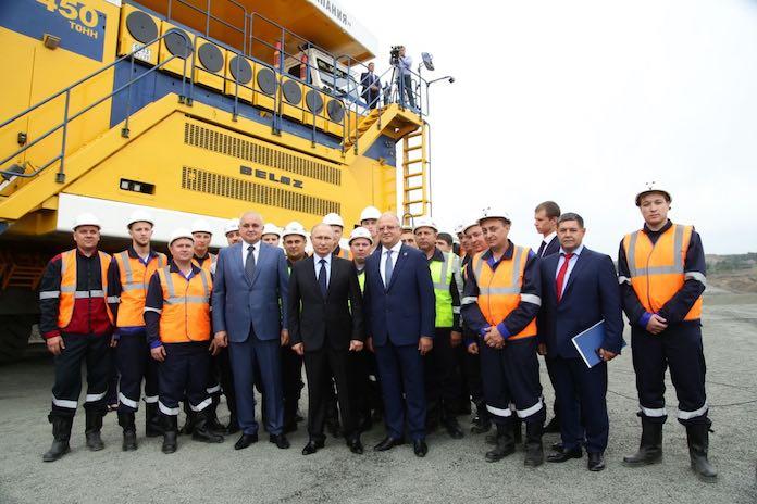 Владимир Путин на разрече Черниговец, август 2018