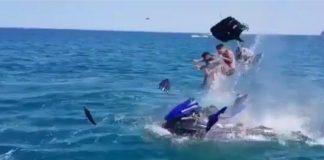 На Черном море взорвался гидроцикл
