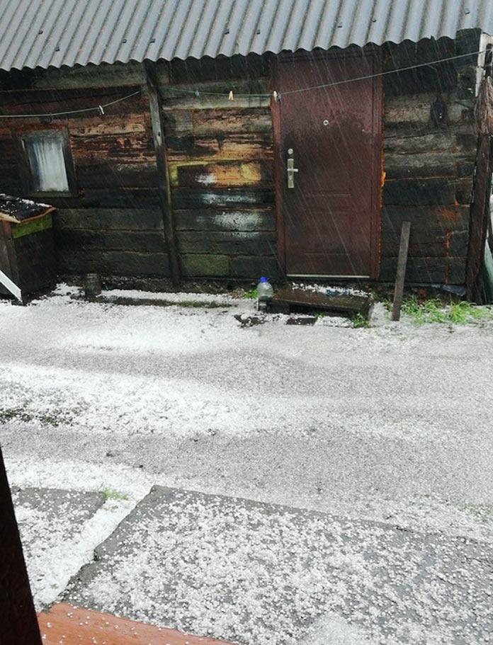 2 сентября в Кузбассе выпал град