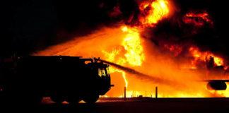 Пожар в Белове