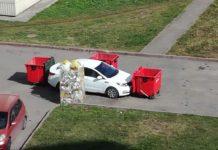 Кемеровские мусорщики проучили автохама