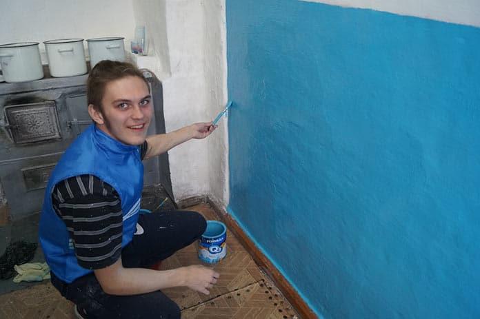 #ДоброВСело, Беловские волонтеры привели в порядок ФАП в деревне Шанда