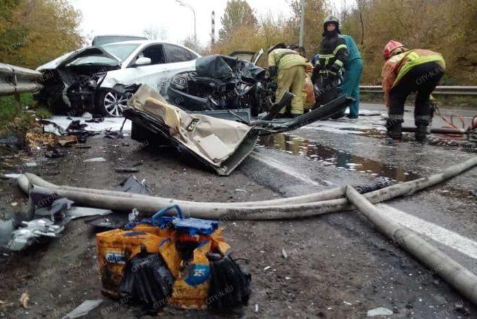 Авария на Ильинском шоссе в Новокузнецке, 2 октября 2018