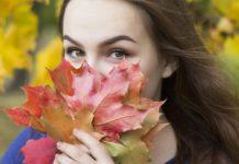 Девушка, осень, октябрь