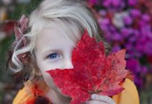 Осень, девочка