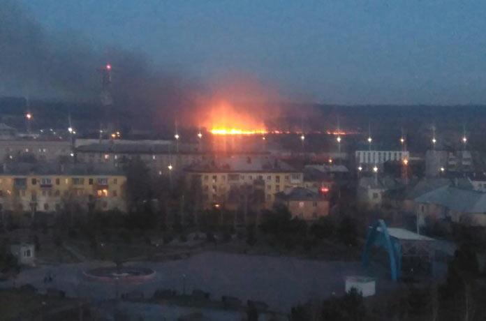 Пожары. Последствия урагана в Белово, 28-29 октября 2018