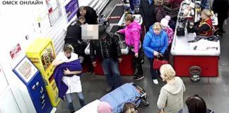 Россиянка родила в супермаркете