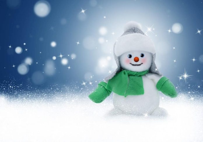 Зима, снег, снеговик