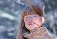 Зима, девочка, девушка, снег, ветер
