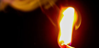 Огонь, пожар, поджок, спичка