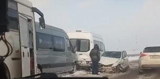 В Беловском районе в массовом ДТП столкнулись 10 транспортных средств, 25 ноября 2018