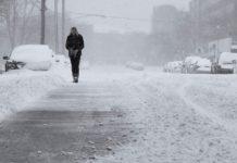 Зима, снег, метель, погода