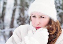 Зима, девушка, мороз