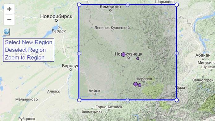 Землетрясения в Кузбассе за период 1980-1997 гг.