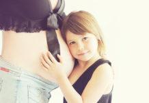 Беременная, мать, женщина с ребенком