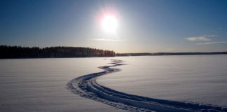 Снегоход, следы