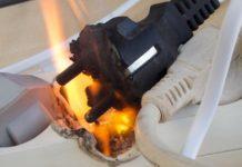 Возгорание электроприбора, пожар