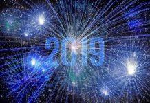 2019, Новый год, фейерверк