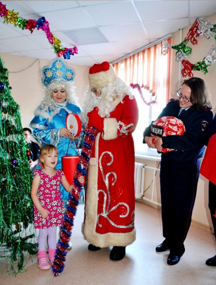 Полицейский Дед Мороз, Белово