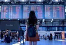 Аэропорт, девушка, путешествия