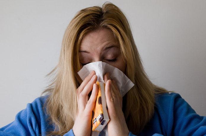 грипп, орви, простуда, болезнь, женщина