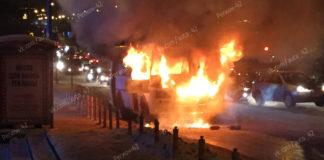 В Кемерове сгорела маршрутка, 23 января 2019