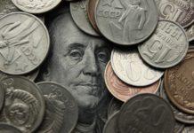 деньги, рубли, доллар, монеты, советские монеты, ссср