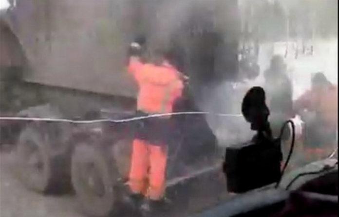 В Кузбассе укладывают асфальт в минус 37, 1 февраля 2019
