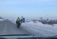 Велопутешественник из Швейцарии едет на Байкал через Кузбасс, Белово