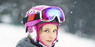 Девочка, лыжи, спорт, зима