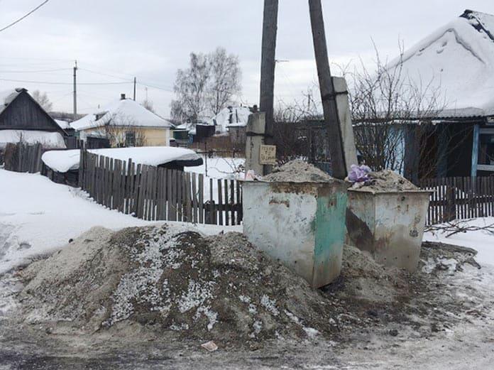 Невывоз мусора в поселке Бабанаково, Белово