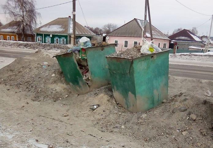 Невывоз мусора в поселке Чертинский, Белово