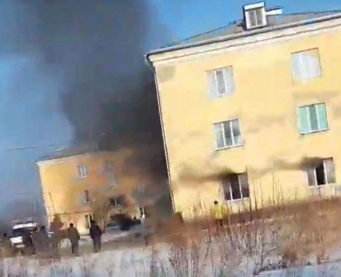 Пожар в Новом городке, 16 февраля 2019