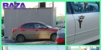 В Омске неизвестный мажет фекалиями припаркованные с нарушениями автомобили