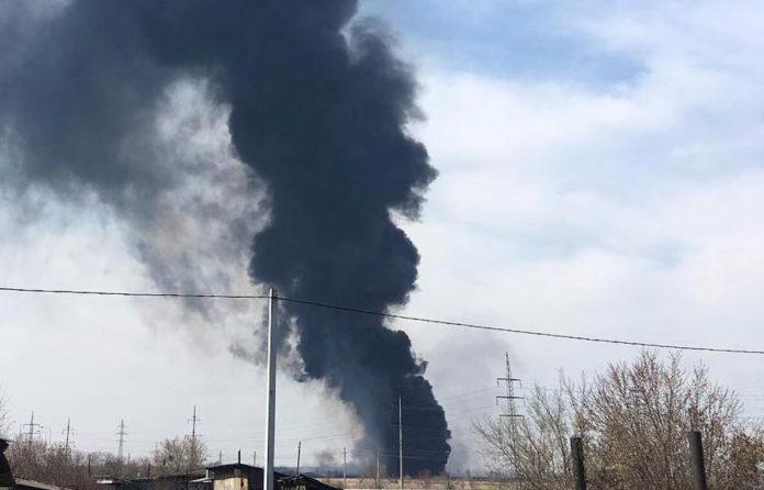 В Белово горит полигон ТБО, городская свалка, 4 мая 2019