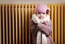 Отопление, холод, батарея, девочка