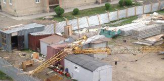 В Гурьевске ураган опрокинул строительный кран, 30 мая 2019 г