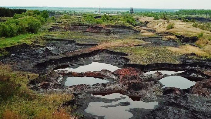 Шламоотстойник, поселок Чертинский, Белово