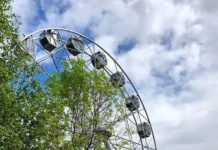 Колесо обозрения в парке «Центральный». Белово