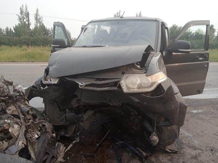 ДТП Белово, 23 июля 2019 г. УАЗ врезался в Тойоту