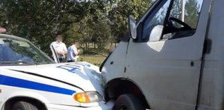 В Беловве машина ГИБДД попала в ДТП, 13 августа 2019 г