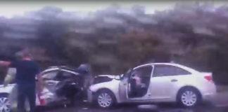 Днем 16августа натрассе «Белово— Ленинск-Кузнецкий» столкнулись несколько машин