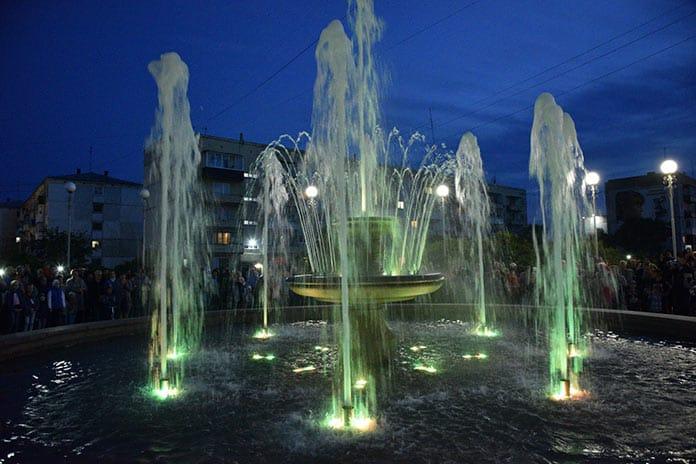 Открытие фонтана в поселке Бачатский, 24 августа 2019 г