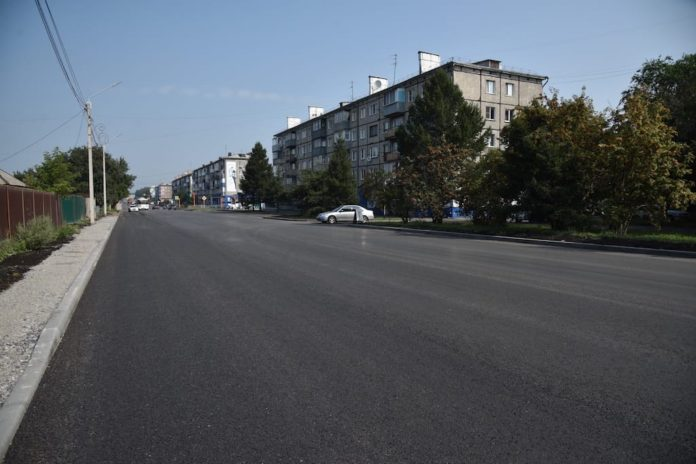 Белово, ул. Октябрьская, август 2019