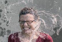 Вода, брызги, женщина