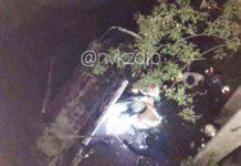 Девушка-водитель погибла при падении автомобиля с моста в Новокузнецке