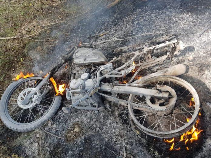 Угнал и сжег мотоцикл