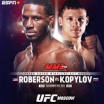 Роман Копылов и Карл Роберсон? UFC Fight Night