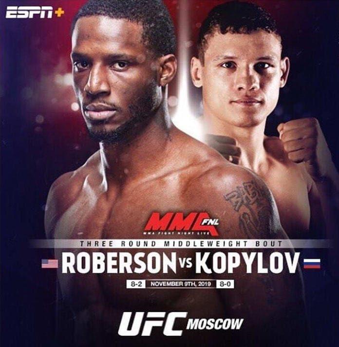 Роман Копылов и Карл Роберсон? UFC Fight Night