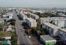 Белово с высоты, улица Октябрьская